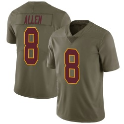 Nike Kyle Allen Washington Redskins Youth Limited Green 2017 Salute to Service Jersey