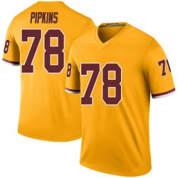 Nike Ondre Pipkins Washington Redskins Youth Legend Gold Color Rush Jersey