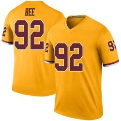 Nike Ryan Bee Washington Redskins Youth Legend Gold Color Rush Jersey