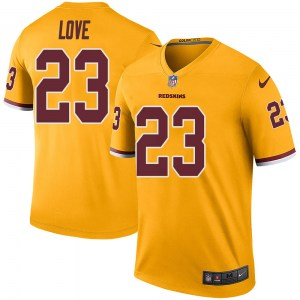 Nike Bryce Love Washington Redskins Youth Legend Gold Color Rush Jersey